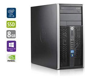HP PC Gamer Multimédia Unité Centrale 8300 MT – Nvidia GTX 1050 – Core i5-3470 @ 3,2 GHz – 8Go RAM – 1000Go HDD – 250Go SSD – Lecteur DVD – Win10Pro (Reconditionné Certifié)