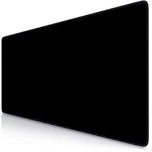 Sidorenko Tapis de Souris Gaming XXL | Gaming Mousepad | 900 x 400 mm | Surface spéciale améliore la Vitesse et la précision | Base en Caoutchouc Antidérapant Surface | Noir