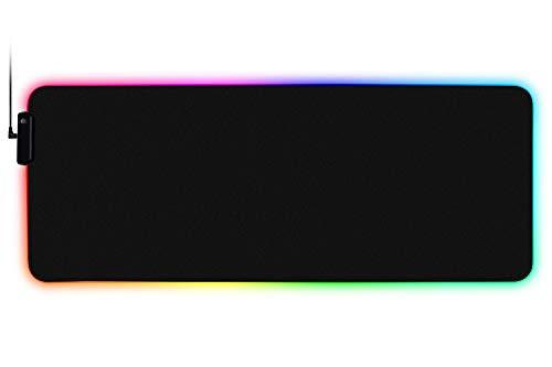 Amorus Tapis de Souris Gamer Lumineux XXL, Gaming Mouse Pad avec LED Rétro-Eclairage RGB, 78.5 x 30.5 x 0.4 cm (XL)