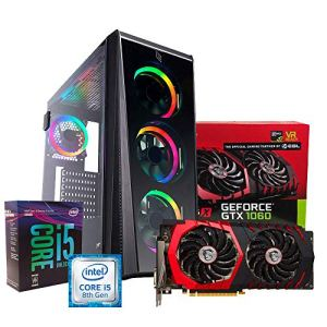 PC Gaming Processeur Intel i58500Six-Core/Carte vidéo gtx10603Go/RAM DDR48Go/sSD 240Go + HDD 1to 7200RPM/500watt 80PLUS/Jeu fortnite–Assassin's Creed Origins–LOL