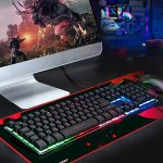 GTPLAYER Tapis de Souris Gaming XL 800x300mm Mousepad Grand Gamer Rouge