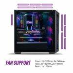 Cooler Master MasterBox MB511 ARGB – Boîtier Moyen tour PC Gamer ATX, panneau maille avant, 3 x 120mm ventilateurs pré-installés, panneau latéral en verre, flexibles configurations de flux d'air, ARGB