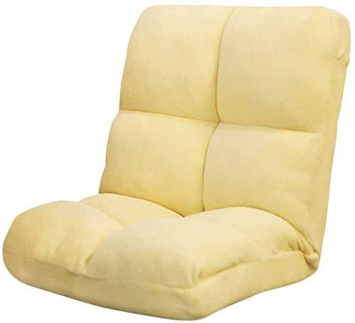 Rabbfay Réglable Chaise Sol réglable Accueil Lazy Sofa Chaise étage, Chaise de Jeu Coussin de Sol pour la Maison ou Le Bureau,Yellow