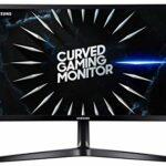 Samsung C24RG52 – Moniteur incurvé Gaming 24″ Full HD (1920×1080, 4ms, 144 Hz, FreeSync, Flicker-Free, LED, VA, 16:9, 3000:1, 1800R, 250 CD/m2, 178°, HDMI, Base en V) Noir