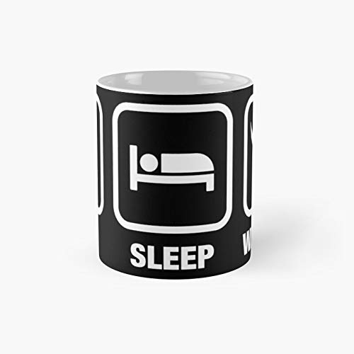 Eat Sleep Waaagh Orks Warhammer 40k Inspired – Gaming Classic Mug | Best Gift Funny Coffee Mugs 11 Oz