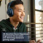 JBL Quantum 100 – Casque gaming filaire avec micro détachable – Accessoire gamer léger et confortable – Compatible avec PC, Windows, Mac, Xbox One, PS4, Nintendo Switch – Couleur : blanc