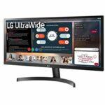 LG UltraWide 29WL50S-B 29″ Moniteur ultra large – UWFHD 21/9e 2560×1080, IPS 5ms 60Hz, HDR 10, sRGB 99% (mode lecture, anti-scintillement, fonctionnalités gaming, inclinable, hauts-parleurs) Noir