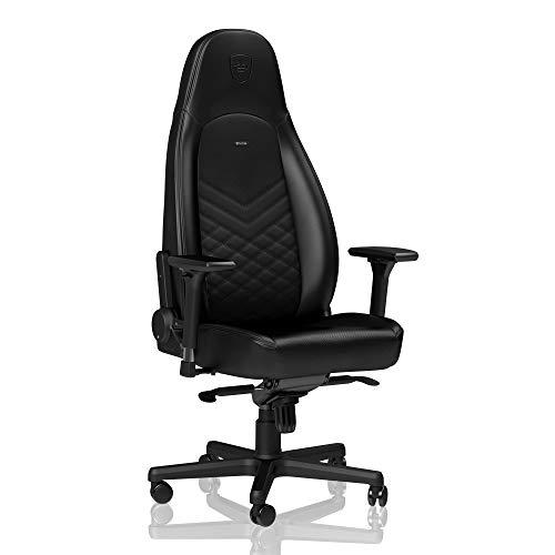 noblechairs Icon Chaise de Gaming – Chaise de Bureau – Cuir Synthétique PU – Noir