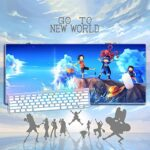 One Piece Grand Tapis de Souris de Gaming, Base en Caoutchouc antidérapant, Bord Cousu, pour Jeux vidéos ou Travail de Bureau 900 * 400 * 3mm-A_700*300 * 3MM