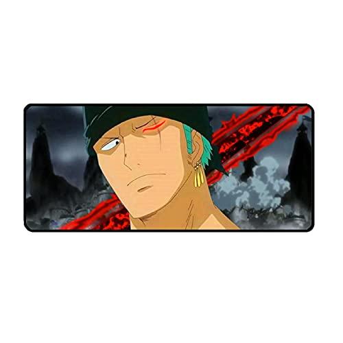 One Piece Grand Tapis de Souris de Gaming, Base en Caoutchouc antidérapant, Bord Cousu, pour Jeux vidéos ou Travail de Bureau 900 * 400 * 3mm-A_900*400 * 3MM