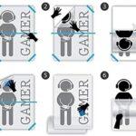 Sticker Mural Pvc Amovible Sticker Mural Chambre Gamer Planche De Surf Océan Palmier Plage Décoration Maison 57X64 Cm