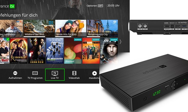 advanceTV Box von Tele Columbus wartet im Dornröschen-Schlaf auf 4K-Content