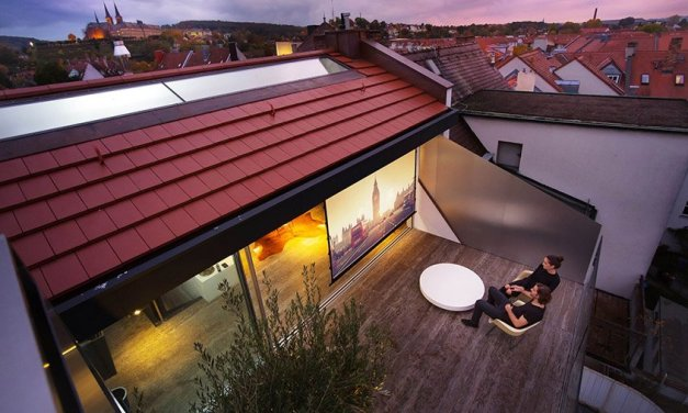 Grandioses Loft-Kino hoch über den Dächern der Altstadt