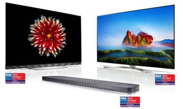 LG freut sich über drei EISA-Awards: zwei Fernseher und eine Soundbar