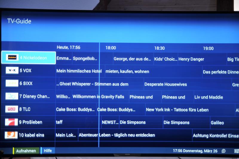 Philips 65PUS9809 TV Guide