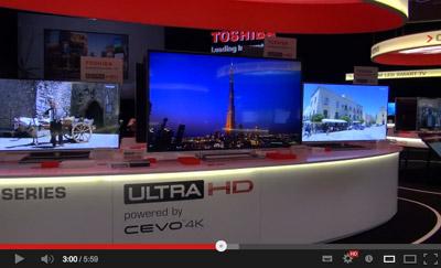 Toshiba IFA 4KTV Video