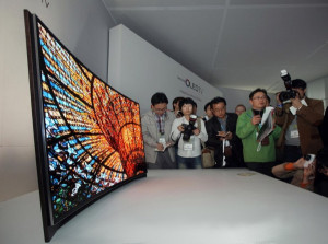 Gebogener Samsung OLED TV