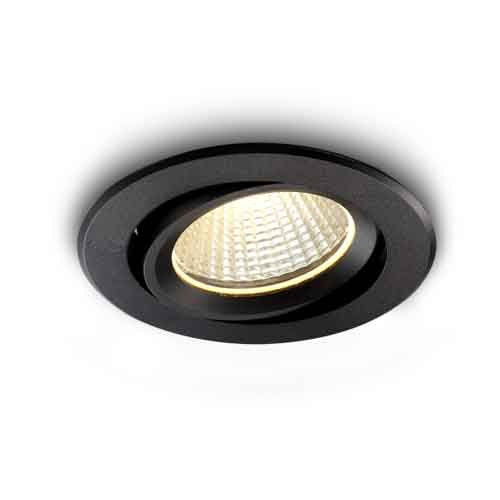 9 watt black soffit LED downlight