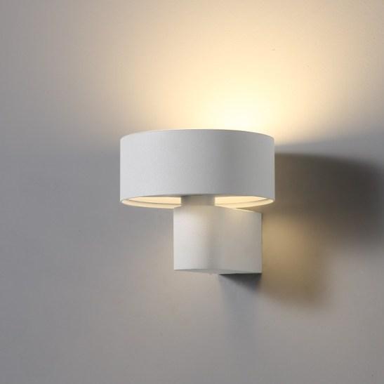 LWA297-WT 6 watt white interior led wall light