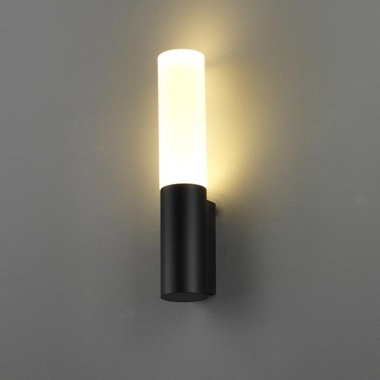 lwa210 6 watt led black outdoor wall light