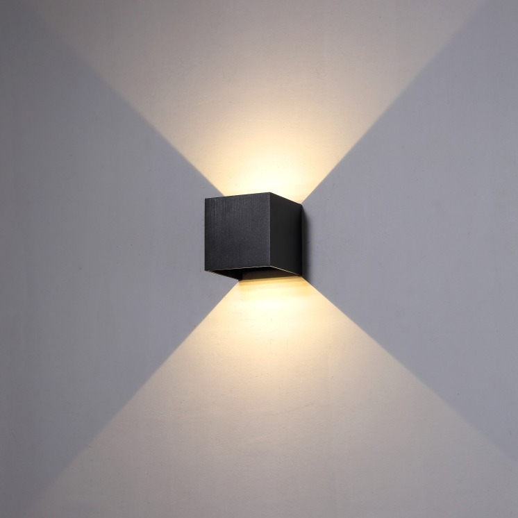 lwa288 6 watt led black up and down outdoor wall light