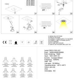 csl024 csl022 led downlight installation guide [ 1000 x 1416 Pixel ]