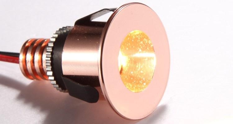 LDC880 rose gold LED kickplate lights