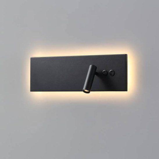 LWA334A-BK Black wall mounted bedroom LED reading light fitting