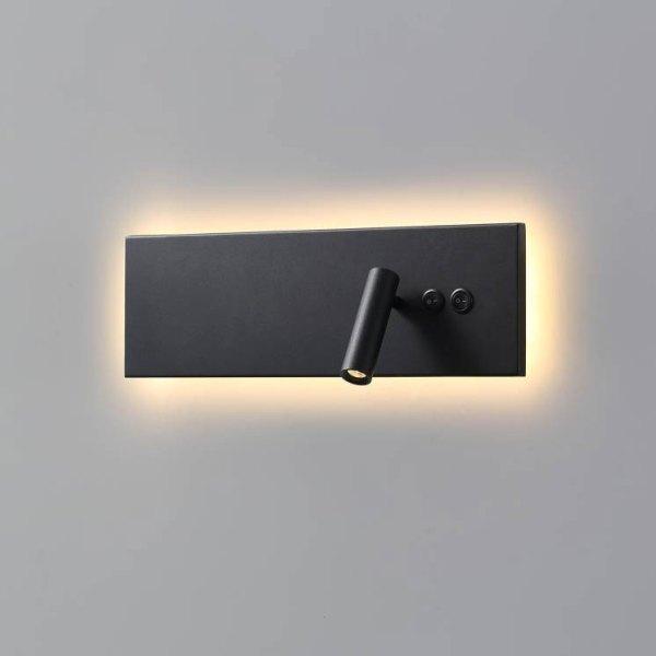 LWA334A-BK Black wall mounted bedroom LED reading light fitting