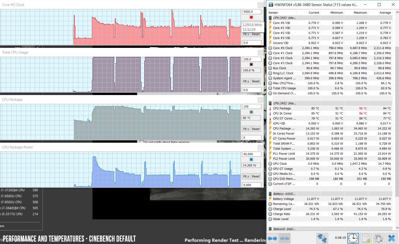 Intel Core i7-8565U benchmarks (Whiskey Lake U) - vs i7-8550U. i5-8265U and others