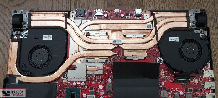 Asus ROG Strix Scar III G531GW cooling, thermal module