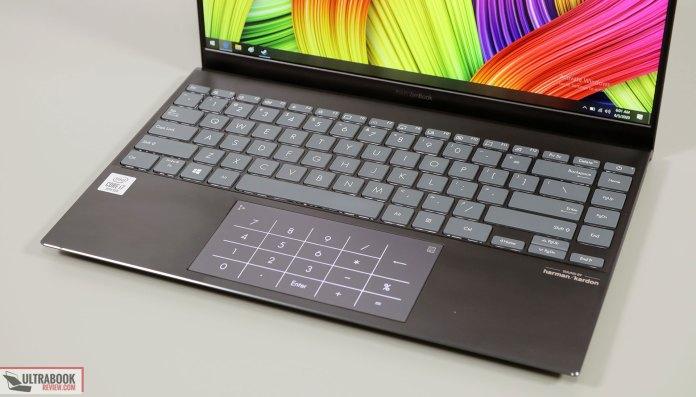 Asus ZenBook 14 UX425JA keyboard and NumberPad