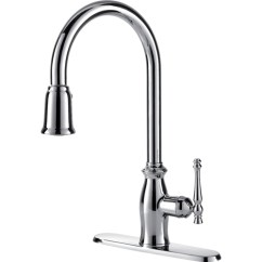 Water Efficient Kitchen Faucet Commercial Flooring Epoxy Single Handle With Pull Down Spray