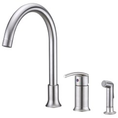 Single Lever Kitchen Faucet Base Cabinet Plans Free Sweep Collection Handle With Side