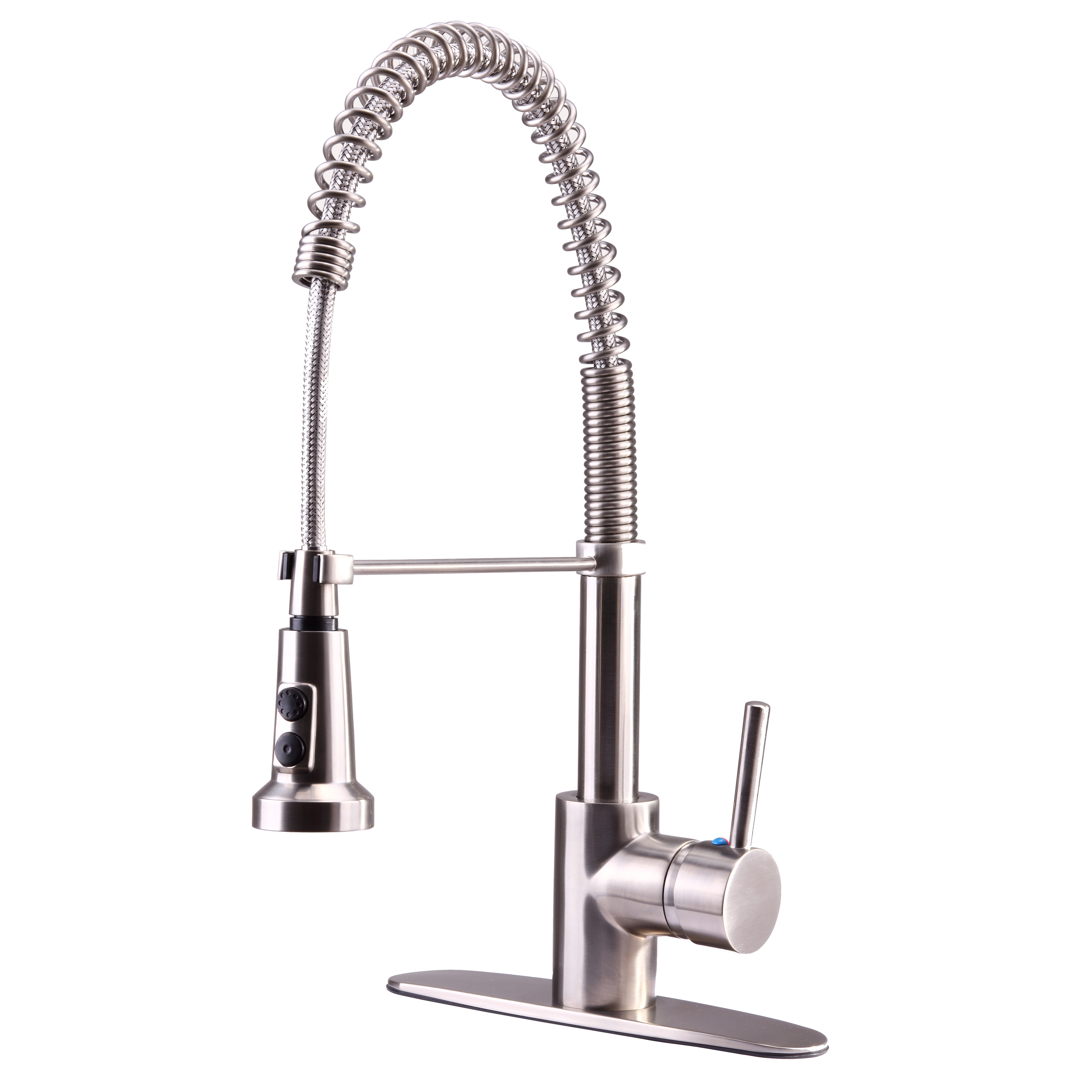 single handle kitchen faucet tall small table euro collection with spring