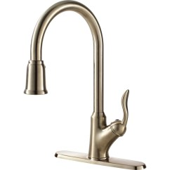 """Kitchen Faucets With Sprayer Flooring """"transitional Collection"""" Single-handle Faucet ..."""