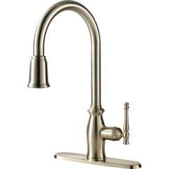 Single Lever Kitchen Faucet Outdoor Frames Water Efficient Handle With Pull