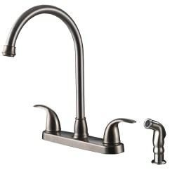 Kitchen Faucet With Side Spray Organization Products Vantage Collection Single Handle