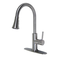 Single Kitchen Faucet Remodeling Miami Euro Collection Handle With Pull