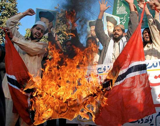 For Peaceful Purposes: Muslims Burn Flags And Threaten Mass Killings