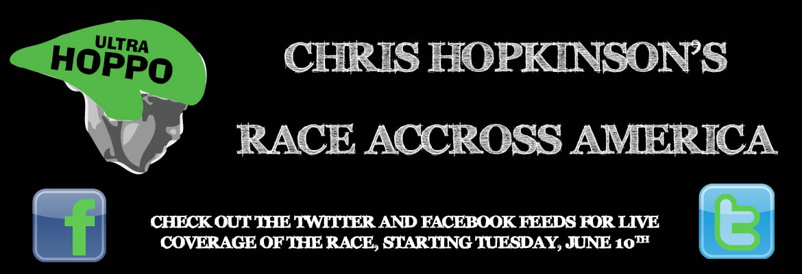 Chris Hoppkinson's Race accross america. Follow live updates on the twitter and facebook feeds.