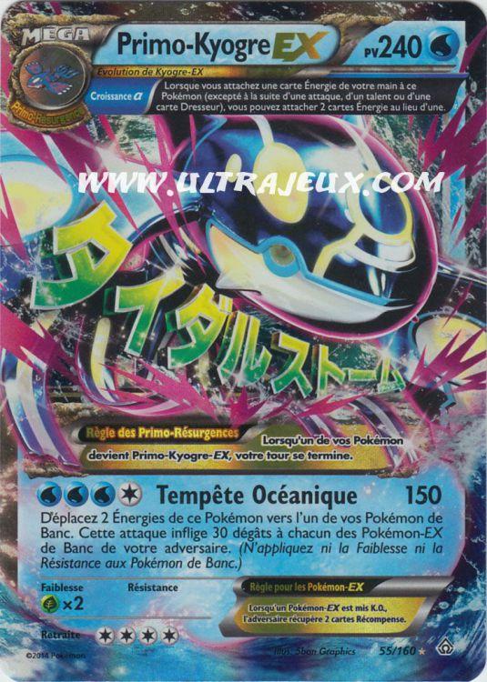 UltraJeux Primo Kyogre Ex 55160 Carte Pokmon Cartes