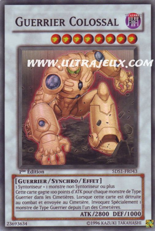UltraJeux Guerrier Colossal 5DS1 FR043 Carte Yu Gi Oh