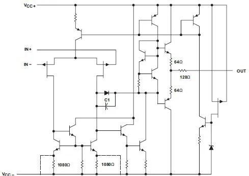 TL082A internal components