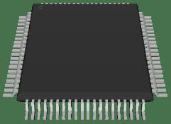 MC68HC05F12FU80 3D STEP model