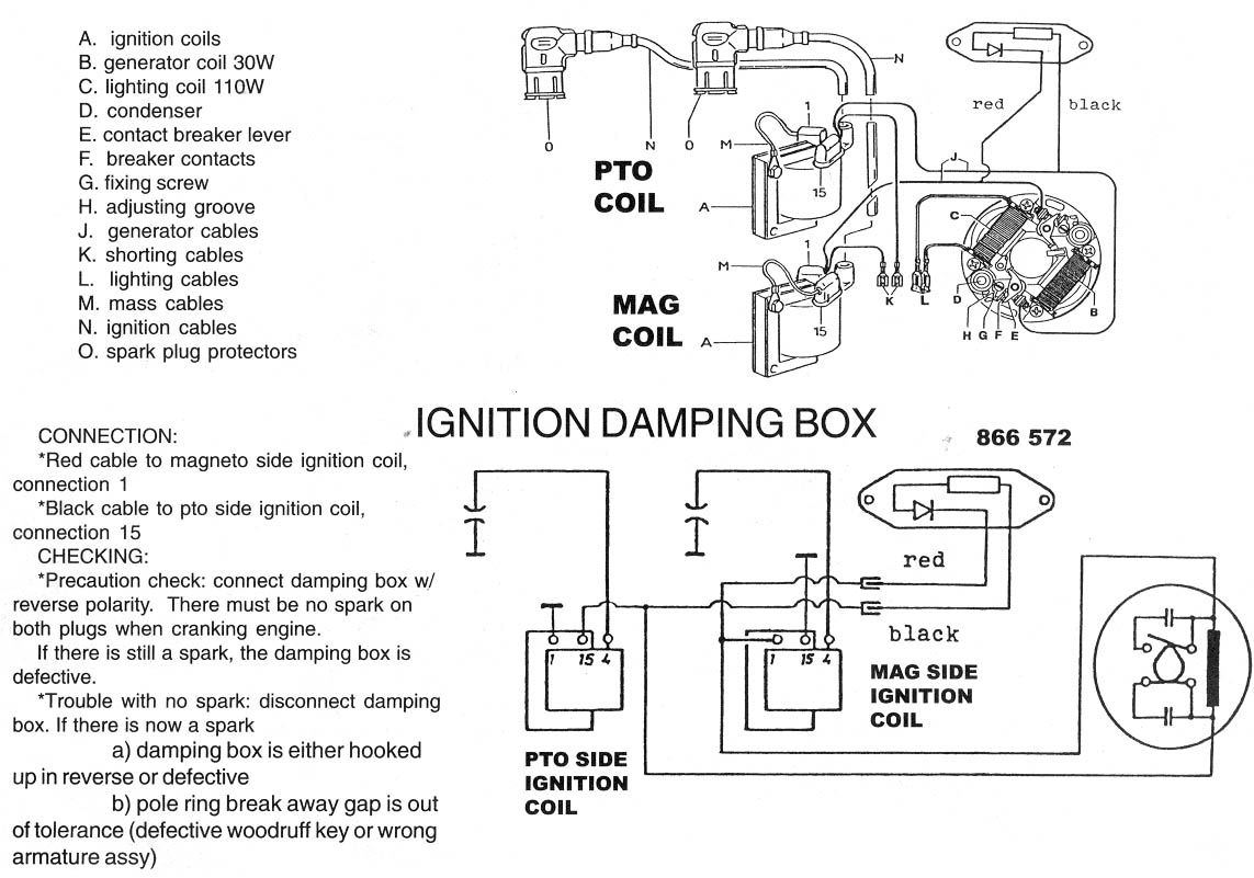 yamaha golf cart battery wiring diagram 2004 bmw x5 ignition great installation of bosch points rotax 377 447