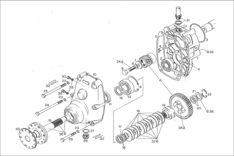 Rotax B Gear Drive Box Parts Diagram