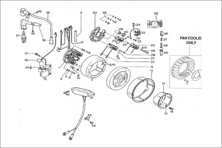 Rotax 277 fan cooled magneto generator