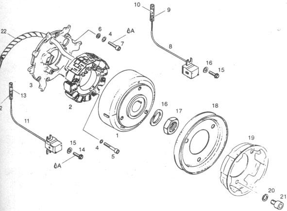 Rotax 503 Ducati ignition generator, Rotax 503 magneto