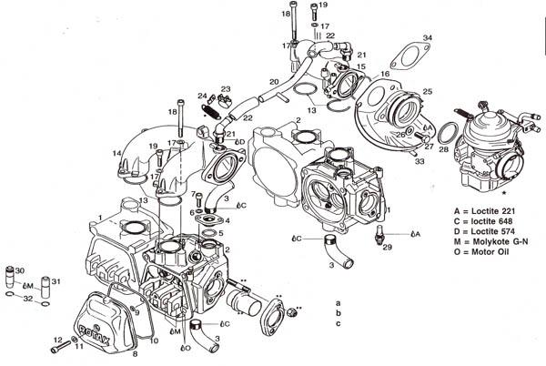 Rotax 912 cylinder head, Rotax 912 intake manifold.